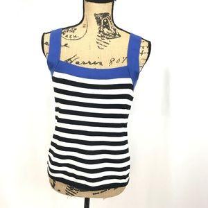 Lauren Ralph Lauren Knit Square Neck Striped Tank